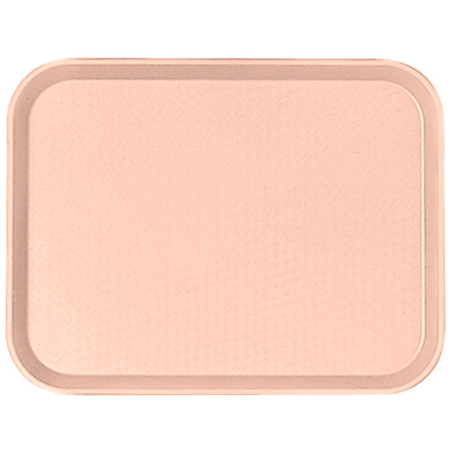 "Cambro 1216FF106 12"" x 16"" Light Peach Customizable Fast Food Tray - 24/Case"
