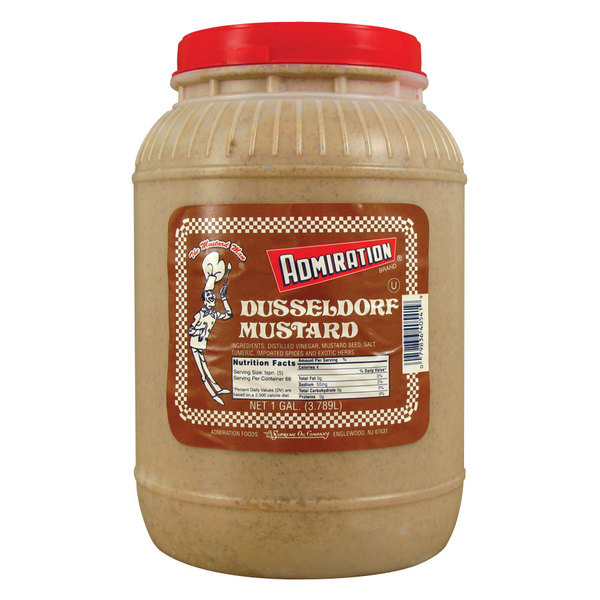 Admiration Dusseldorf Mustard 1 Gallon Container - 4/Case