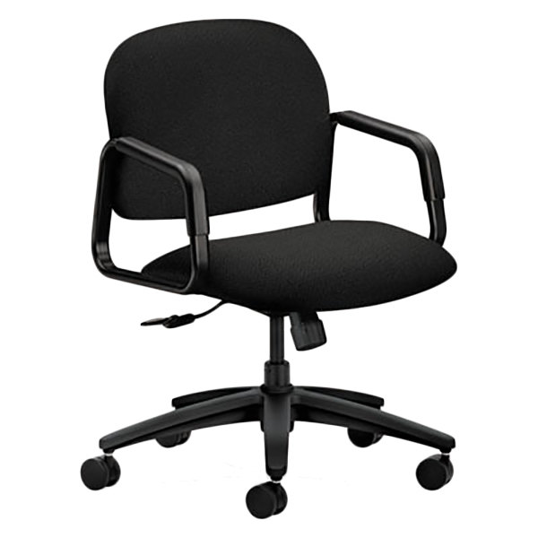 ... Office Chair With Fixed Arms And Swivel Base. Main Picture