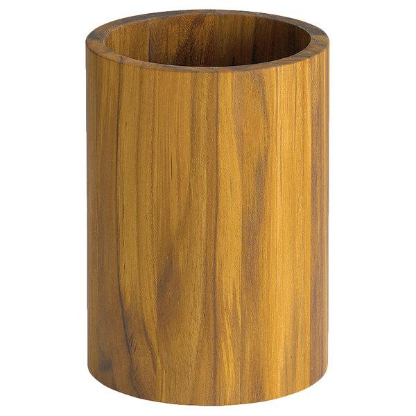 Tablecraft Chtk557 5 Round Teak Utensil Holder
