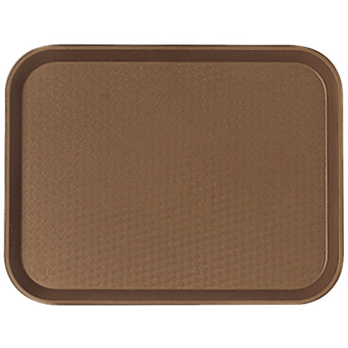 "Cambro 1418FF167 14"" x 18"" Brown Customizable Fast Food Tray - 12/Case"