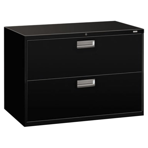 hon 4 drawer file cabinet hon 692lp 600 series black two drawer lateral filing 16575