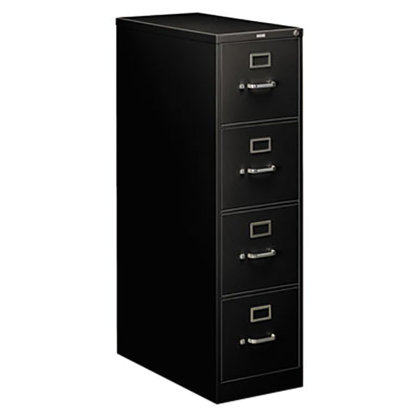 hon 4 drawer file cabinet hon 214pp 210 series black suspension four drawer 16575