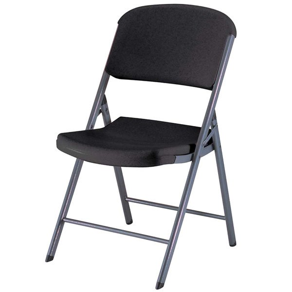 Lifetime 80061 Black Contoured Folding Chair