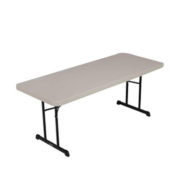Lifetime 880126 30 X 72 Rectangular Putty Professional Grade Plastic Folding Table Main Picture