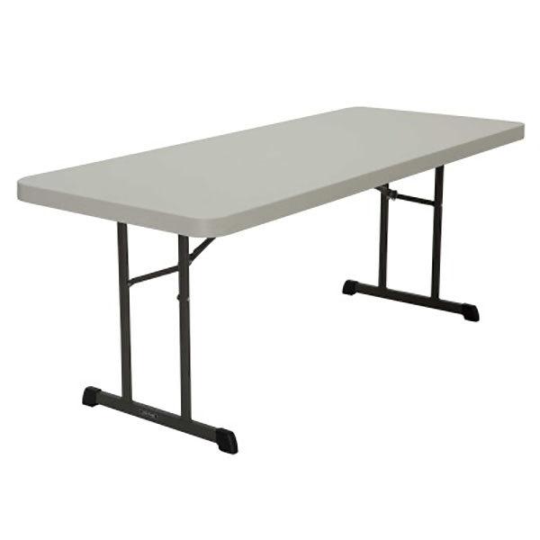 Lifetime 880249 30 X 72 Rectangular Almond Professional Grade Plastic Folding Table 18 Pack