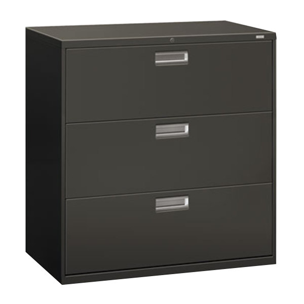 hon 4 drawer file cabinet hon 693ls 600 series charcoal three drawer lateral filing 16575
