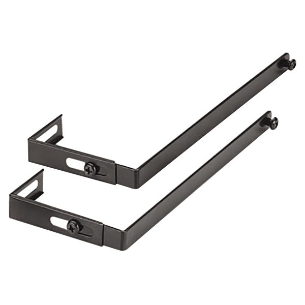 "Universal 08173 1 1/2"" x 1 1/4"" x 7"" Black Adjustable Cubicle Hanger - 2/Set"