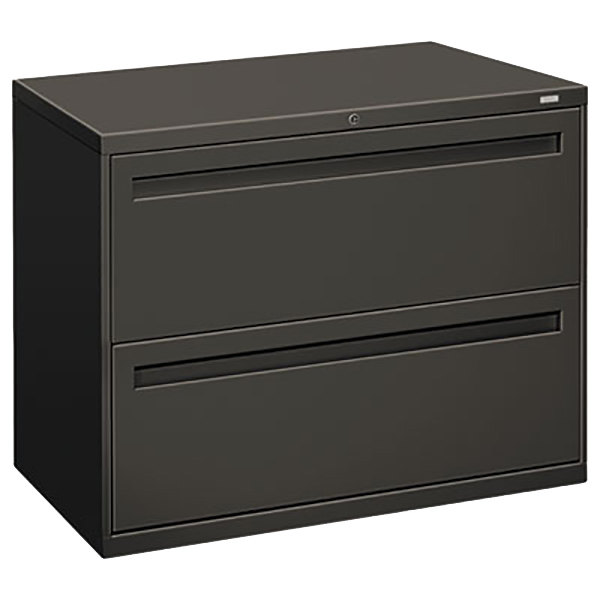 hon lateral file cabinet hon 782ls 700 series 36 quot x 19 1 4 quot x 28 3 8 quot charcoal two 16592