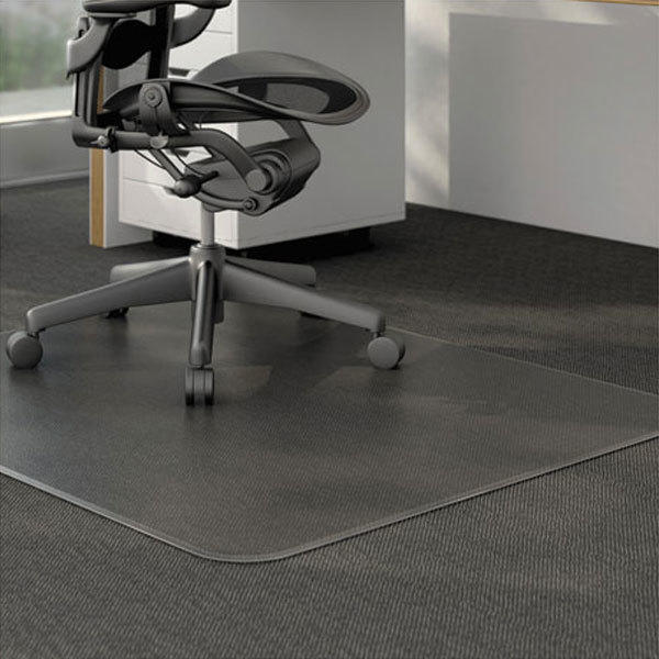 "alemat4660clpr 60"" x 46"" clear cleated low pile carpet office"