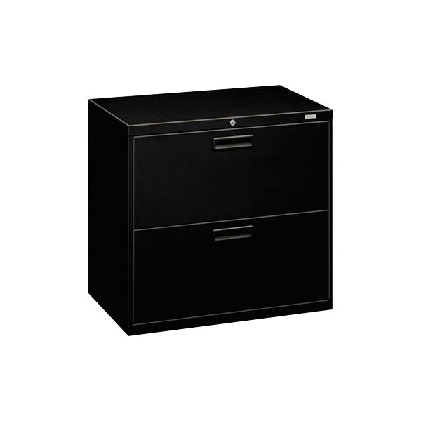 HON 572LP 500 Series Black Two Drawer Lateral Filing Cabinet   30