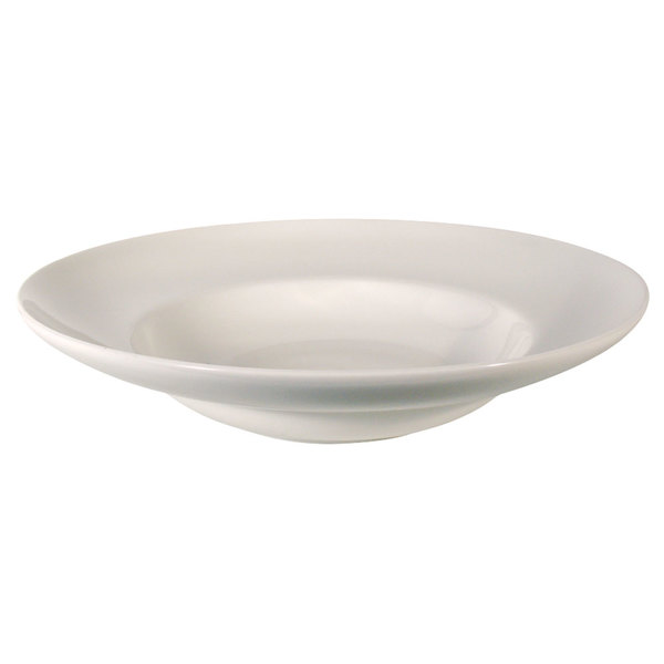 Homer Laughlin 6796000 Unique Mediterranean 22 oz. Ivory (American White) China Pasta Bowl - 12/Case