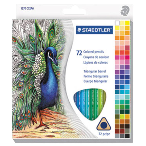 Staedtler 1270c72a6 72 Assorted H Lead 3 Triangular