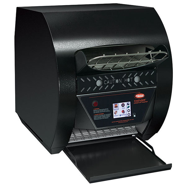 "Hatco TQ3-500H Toast-Qwik Black Conveyor Toaster with 3"" Opening and Digital Controls - 208V, 2220W"