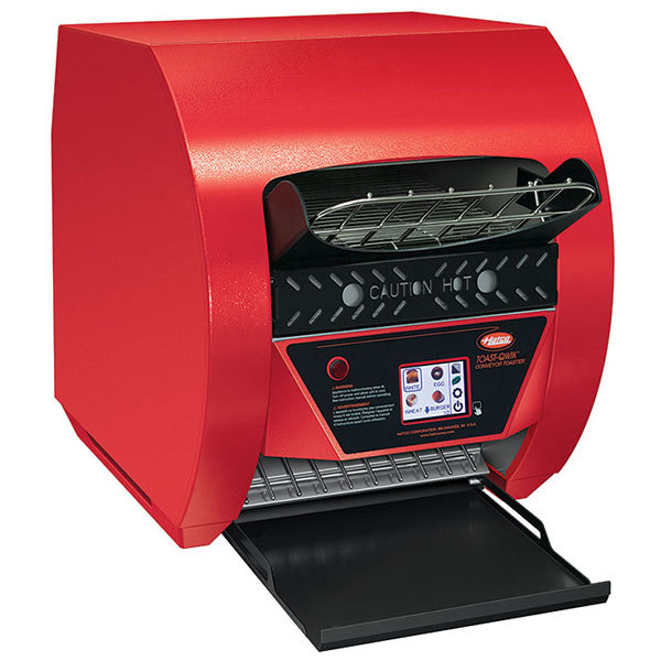 "Hatco TQ3-900 Toast-Qwik Red Conveyor Toaster with 2"" Opening and Digital Controls - 240V, 3020W"