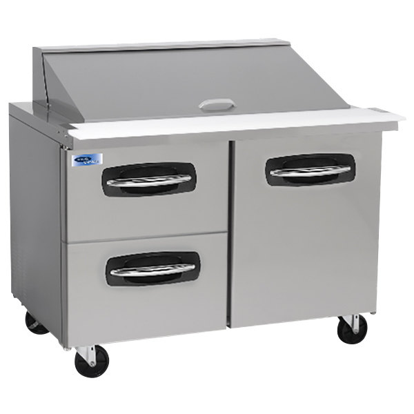 "Nor-Lake NLSMP48-18-003 AdvantEDGE 48 1/4"" Mega Top 1 Door / 2 Drawer Refrigerated Sandwich Prep Table"