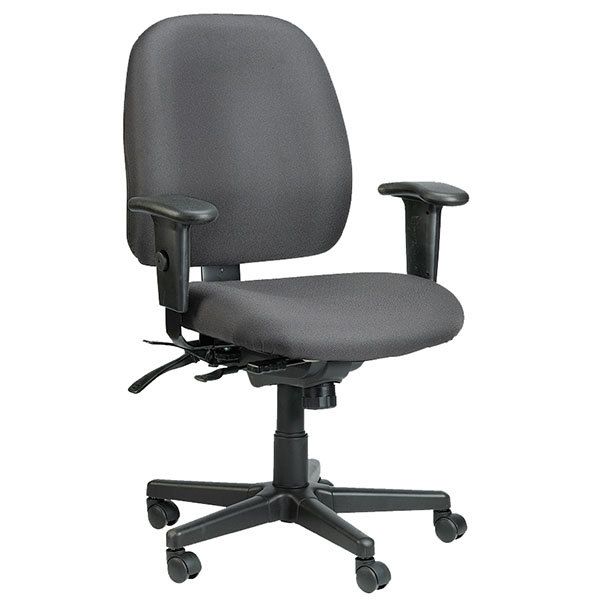 Tremendous Eurotech 498Sl H5511 4X4 Sl Series Charcoal Fabric Mid Back Multifunction Swivel Office Chair Gmtry Best Dining Table And Chair Ideas Images Gmtryco