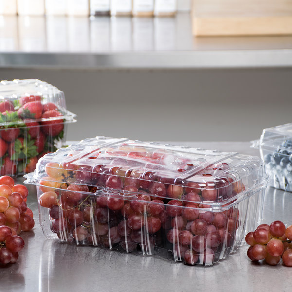4 Lb Vented Clamshell Clear Produce Berry Container