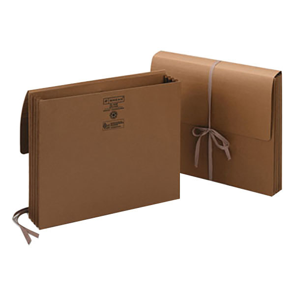 Letter 3 1//2 Inch 71353 Smead Expansion Wallets Leather-Like Redrope