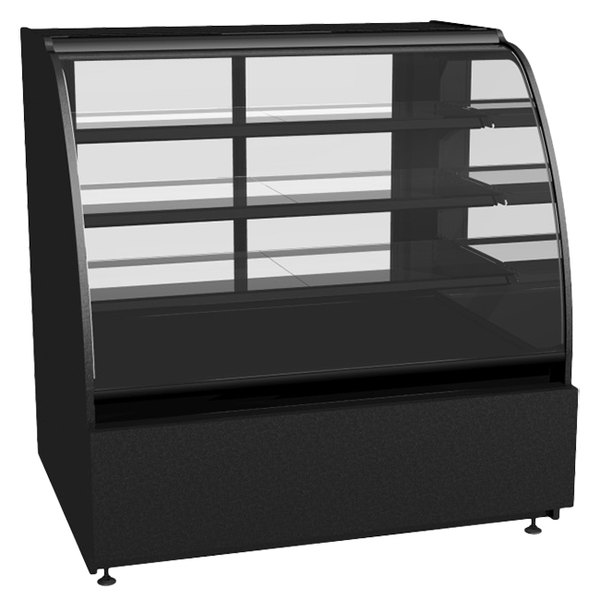 "Structural Concepts Encore HV56R Refrigerated Merchandiser / Deli Case 58"" - Full Service Black 120V - 22.33 Cu. Ft."