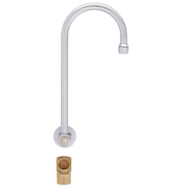 "Fisher 21075 Backsplash Mounted Faucet with 12"" Swivel Gooseneck Nozzle, 2.20 GPM Aerator, and Elbow"