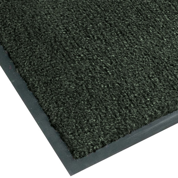 "Teknor Apex NoTrax T37 Atlantic Olefin 4468-175 2' x 3' Forest Green Carpet Entrance Floor Mat - 3/8"" Thick"