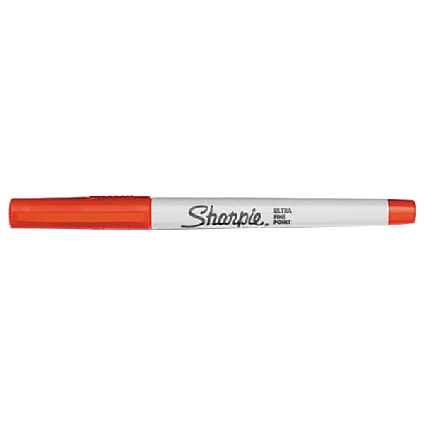 Sharpie 37002 Red Ultra Fine Point Permanent Marker 12 Pack
