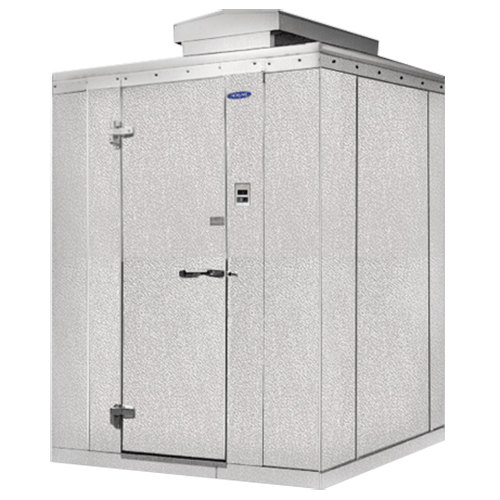 "Lft. Hinged Door Nor-Lake KODB66-C Kold Locker 6' x 6' x 6' 7"" Outdoor Walk-In Cooler"