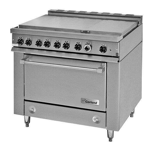 Garland 36ES39 Heavy-Duty Electric Range with 6 Boiler Top Sections ...