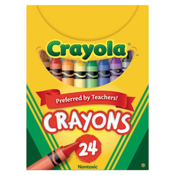 crayola 520024 classic assorted 24 color crayon tuck box 24 box