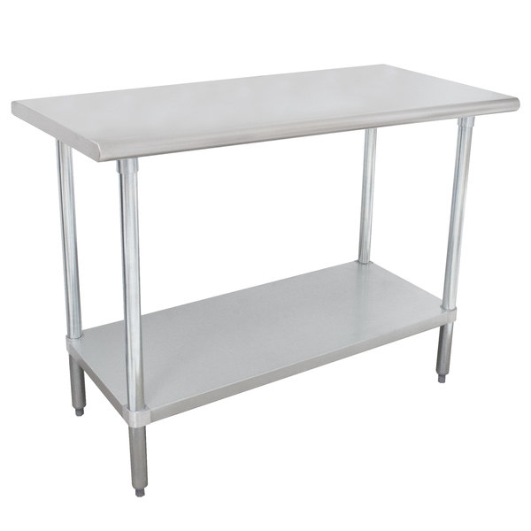 "Advance Tabco MSLAG-304-X 30"" x 48"" 16 Gauge Stainless Steel Work Table with Undershelf"