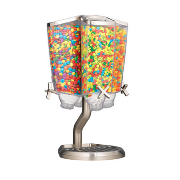 Rosseto EZP2760 EZ PRO 3.8 Liter Four Canister Tabletop Carousel Food  Dispenser With Stainless Steel Stand ...