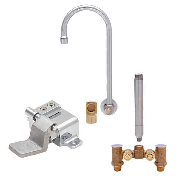 faucets sink tap faucet foot brass dp control pedal bathroom sourcingmap water cold