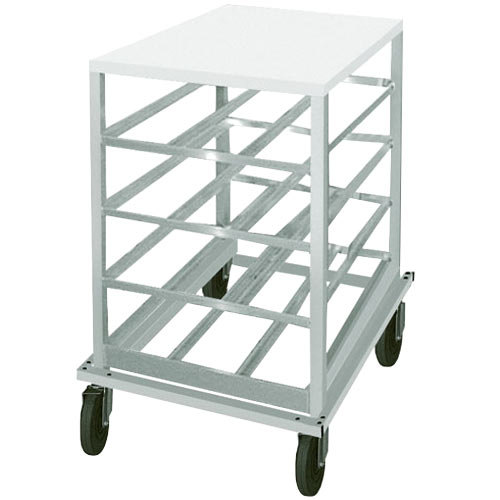 Advance Tabco CRPL10-72 Spec Line #10 Aluminum Can Rack Mobile with Poly Top - Half Size