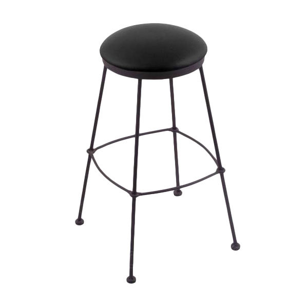 Brilliant Holland Bar Stool 303025Bwblkvinyl Black Wrinkle Steel Counter Height Stool With Black Vinyl Seat Gamerscity Chair Design For Home Gamerscityorg