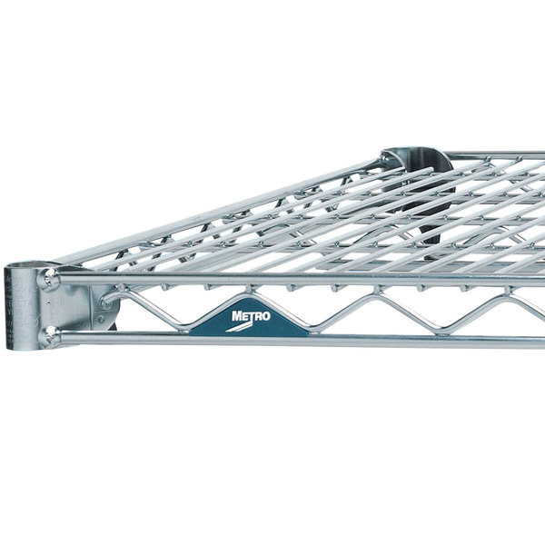 "Metro 1424NS Super Erecta Stainless Steel Wire Shelf - 14"" x 24"""