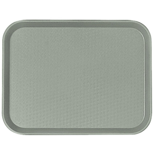 "Cambro 1418FF107 14"" x 18"" Pearl Gray Customizable Fast Food Tray - 12/Case"