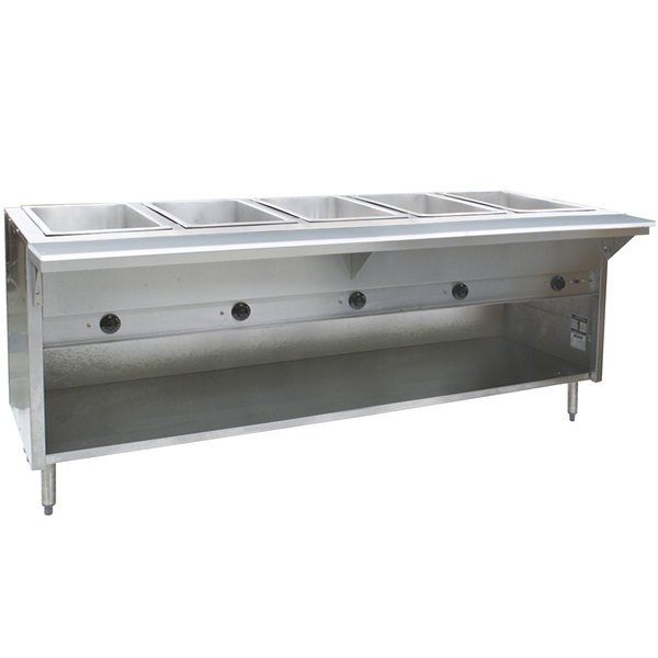 Eagle Group HT5OBE Spec Master Series Electric Steam Table with Enclosed Base 3750W - Five Pan - Open Well, 240V