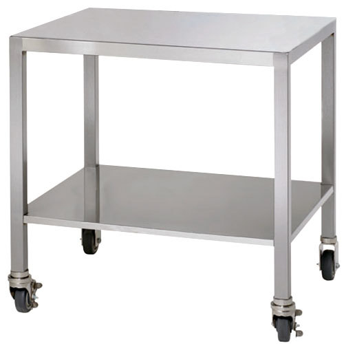Alto-Shaam 5005173 Stainless Steel Stationary Stand with Seismic Feet for 2-ASC-2E/STK Models - 17 1/2""