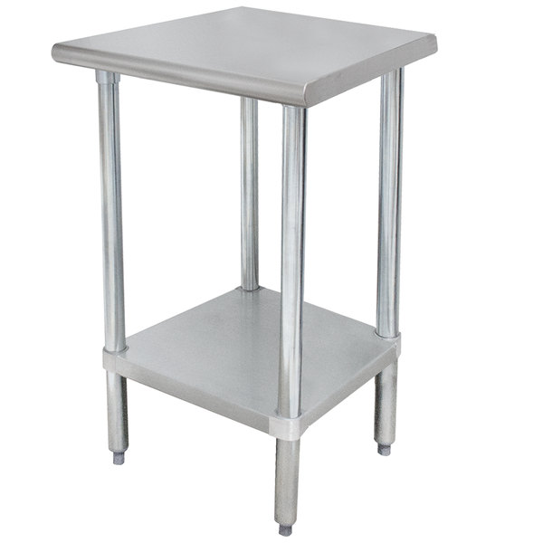 "Advance Tabco ELAG-302-X 30"" x 24"" 16 Gauge Stainless Steel Work Table with Galvanized Undershelf"