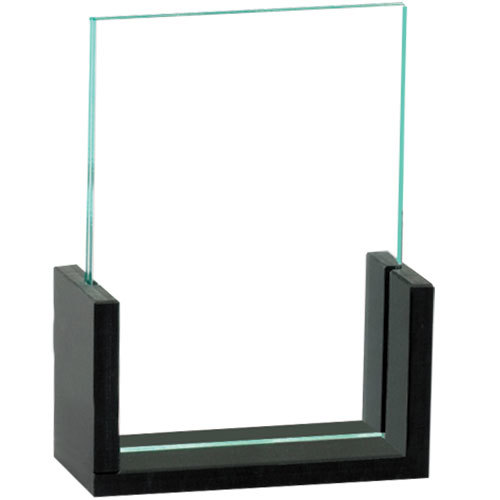 "Cal-Mil 1510-46 U-Frame 4"" x 6"" Black Displayette"