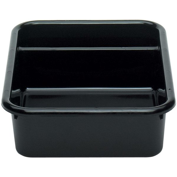 "Cambro 1621CBR110 Cambox 21"" x 16"" x 5"" Black Plastic Regal Bus Box"