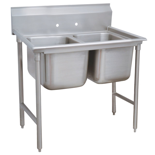 Advance Tabco 9-42-48 Super Saver Two Compartment Pot Sink - 60""
