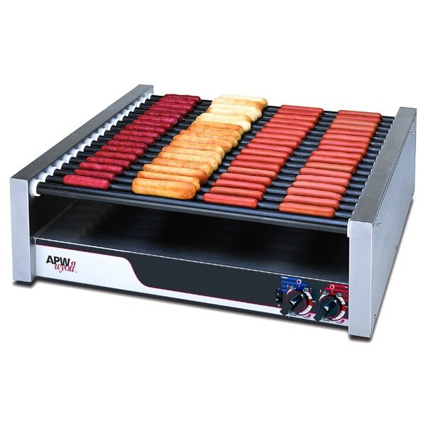 "APW Wyott 208/240 Volt APW Wyott HRS-75 Non-Stick Hot Dog Roller Grill 30 1/2""W - Flat Top 208/240V at Sears.com"