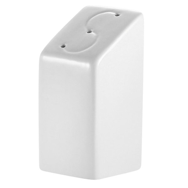 Bright White Square China Salt Shaker - 48/Case