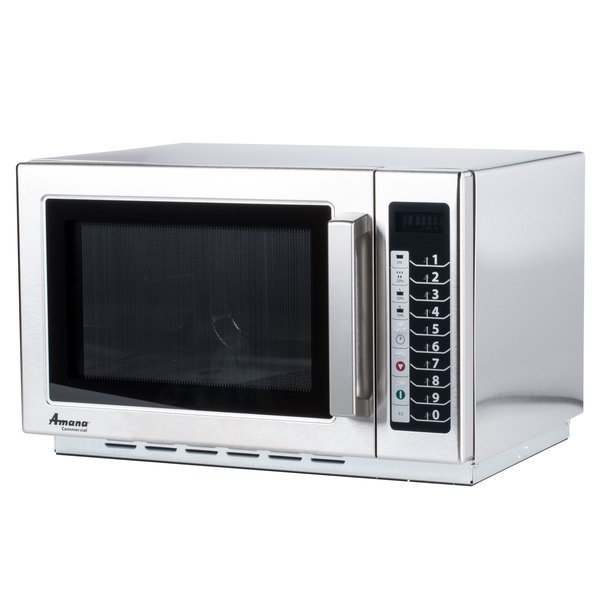 120 Volts Amana Rcs10ts Stackable Commercial Microwave With Push On Controls 120v