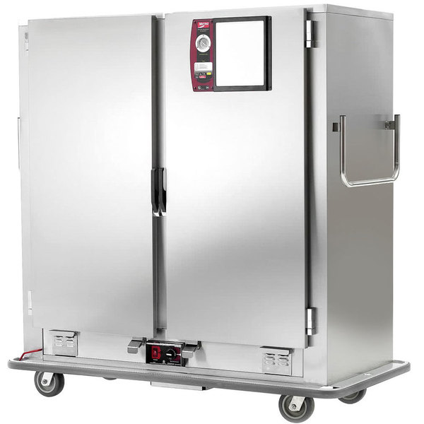 Metro MBQ-180D-QH Insulated Heated Banquet Cabinet Two Door With Quad-Heat System Holds up to 180 Plates 120V