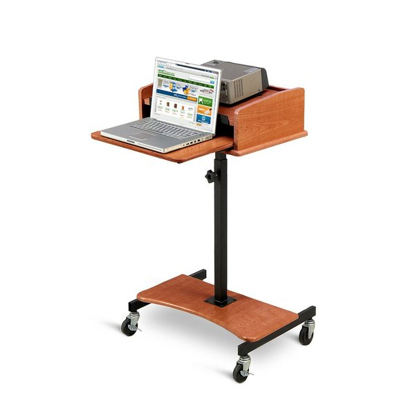Oklahoma Sound LSSCH Cherry Finish Adjustable Laptop Speaker Stand