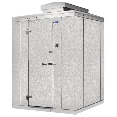 "Lft. Hinged Door Nor-Lake KODB88-C Kold Locker 8' x 8' x 6' 7"" Outdoor Walk-In Cooler"