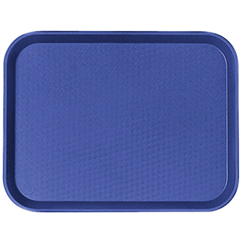 "Cambro 1216FF186 12"" x 16"" Navy Blue Customizable Fast Food Tray - 24/Case"